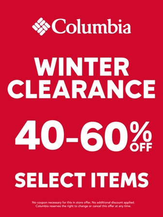 Last Chance Winter Clearance!