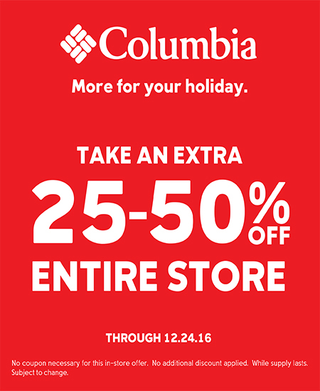 Columbia Sportswear MORE FOR YOUR HOLIDAY