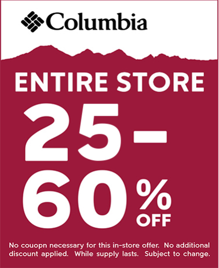 Columbia's Entire Store Sale