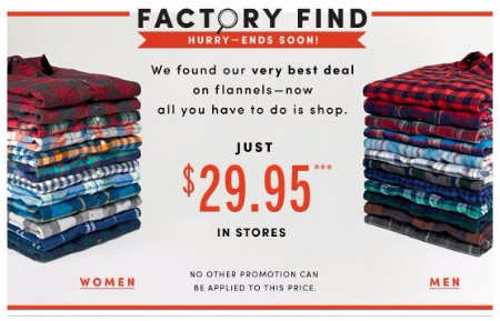 Flannels for Just $29.95