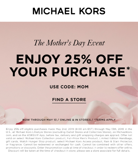 65f22cb9e775 Hawthorn Mall     The Mother s Day Event     Michael Kors