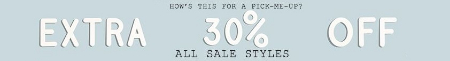 Extra 30% Off All Sale Styles