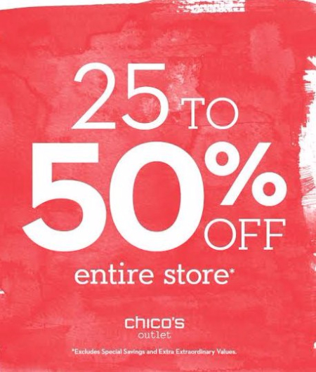 25% - 50% Off Entire Store