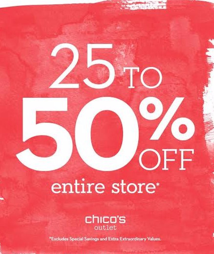 25-50% off Entire Store