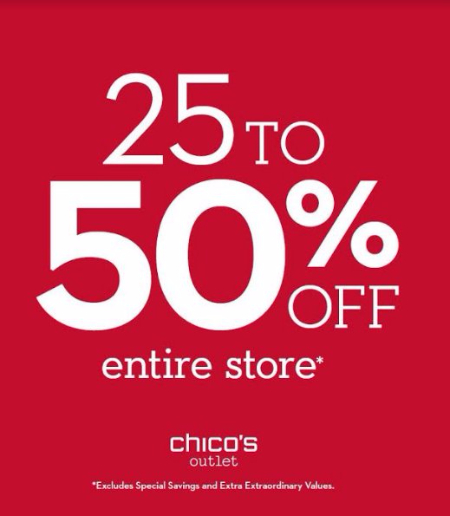25-5​0% Off Entire Store