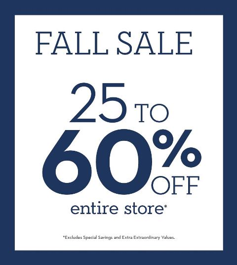 25-60% OFF Entire Store