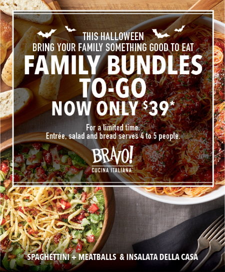Bridge Street Town Centre ::: Family Bundles To-Go for only $39 ...
