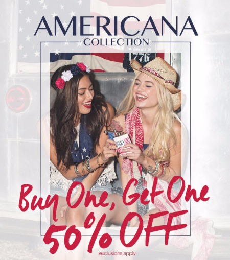 BOGO 50% Off Americana Collection at Icing