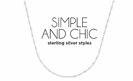 Simple & Chic Sterling Silver Styles