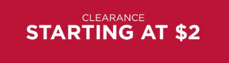 Clearance Starting at $2