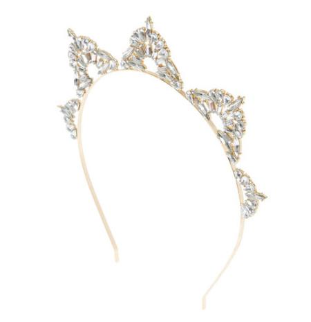 Geometric Crystal Triangle Gold Headband