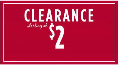 Clearance Starting at $2 at Icing