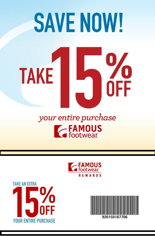 Famous footwear outlet coupons