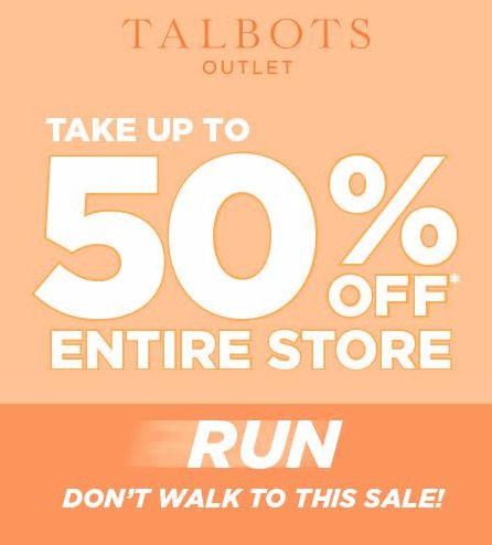 Up to 50% Off The Entire Store
