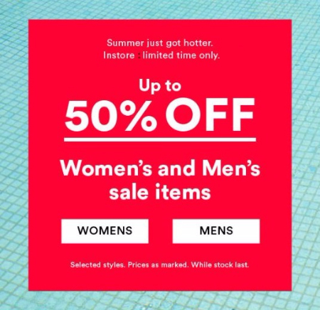 Up to 50% Off Women's and Men's Sale Items