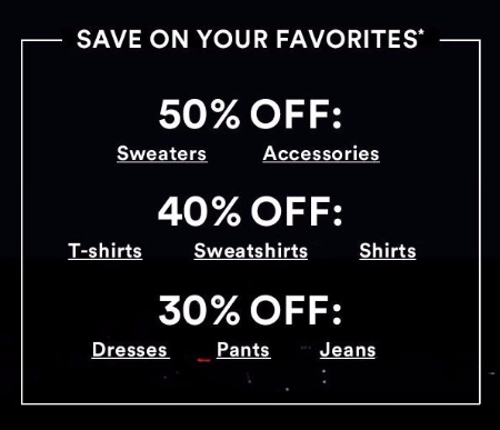 Up to 50% Off your Favorites