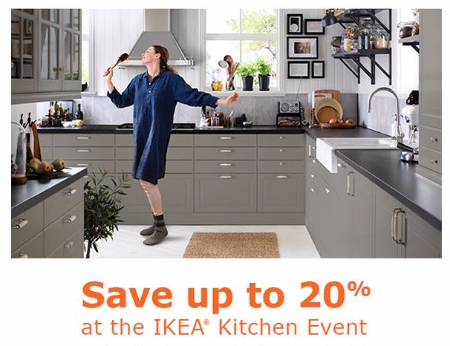 IKEA Kitchen Event up to 20% Off