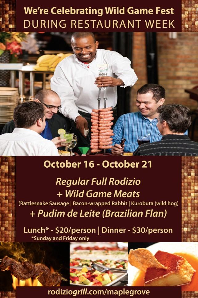 Restaurant Week - Wild Game Fest