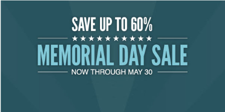 Up to 60% Off Memorial Day Sale