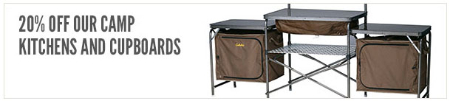 20% Off Camp Kitchens & Cupboards