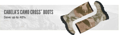 Up to 40% Off Cabela's Camo Cross Boots