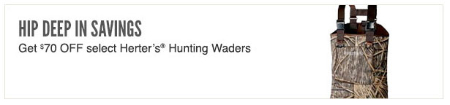 $70 Off Select Herter's Hunting Waders