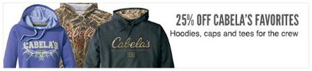 25% Off Cabela's Favorites