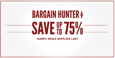 Up to 75% Off Bargain Hunter