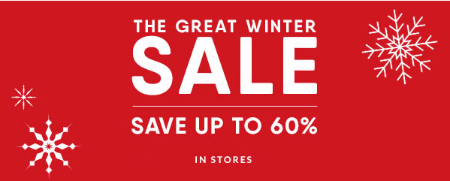 Up to 60% Off The Great Winter Sale
