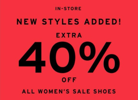 Extra 40% Off All Women's Sale Shoes