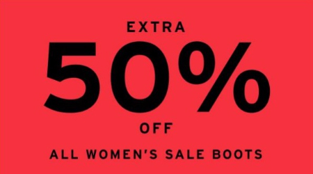 Extra 50% Off All Women's Sale Boots