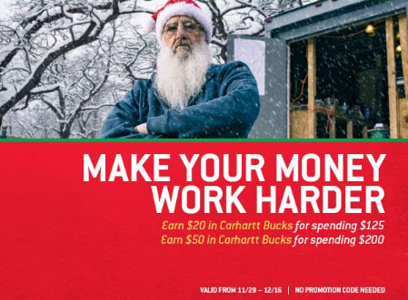 Earn Up to $50 in Carhartt Bucks