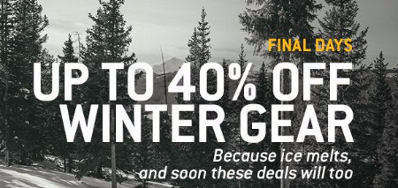 Up to 40% Off Winter Gear