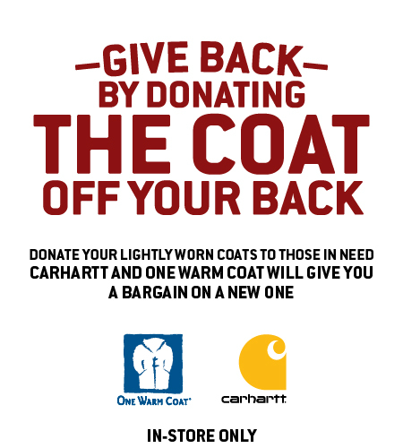 Give Back by Donating the Coat Off Your Back