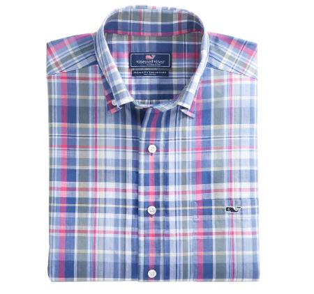 Wilfin Plaid Classic Tucker Shirt