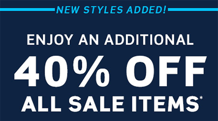 40% Off All Sale Items!