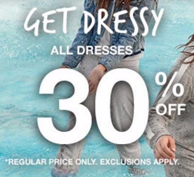 30% Off All Dresses