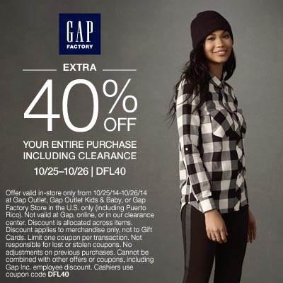 Flash Sale At Gap Factory Store