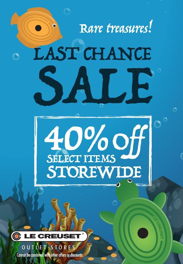40% off Last Chance Sale