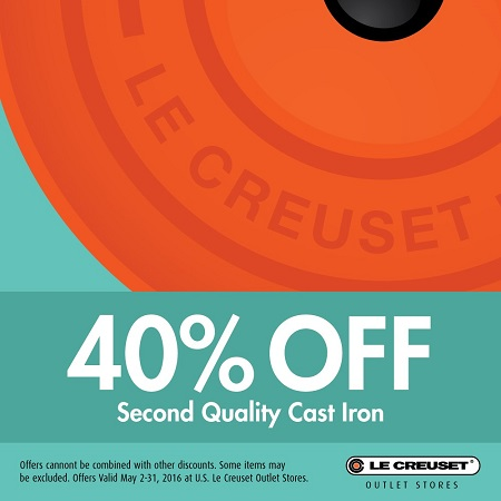 40% off second quality cast iron