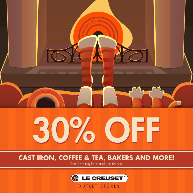 30% off Cast Iron, Bakers, & More!