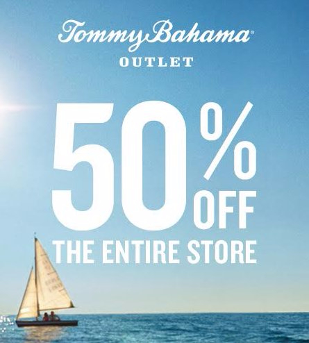 50% off the entire store