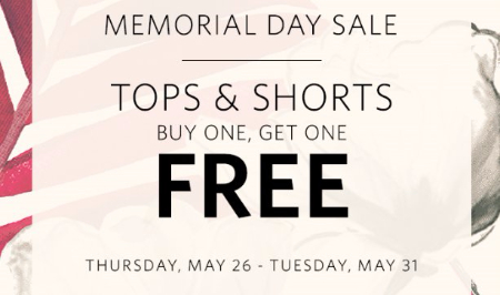 Tops & Shorts Buy One, Get One Free