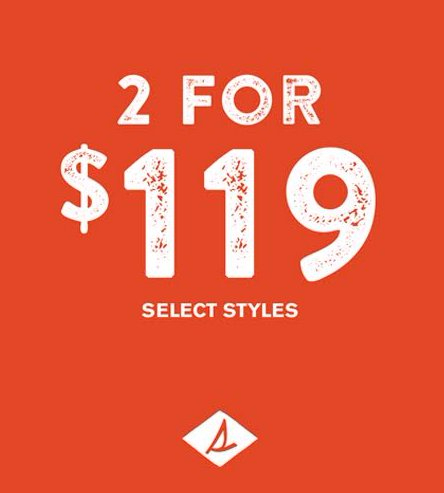Select Styles 2/$119