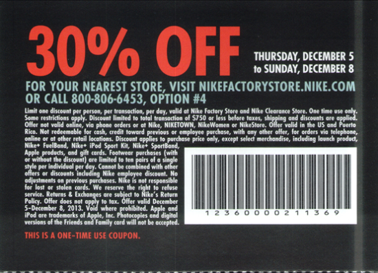 Printable nike factory store coupon 2018