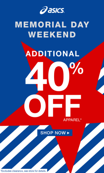 Memorial Day Sale!  Extra 40% OFF