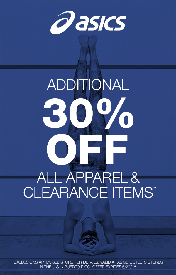 Extra 30% Off All Apparel and Clearance Items