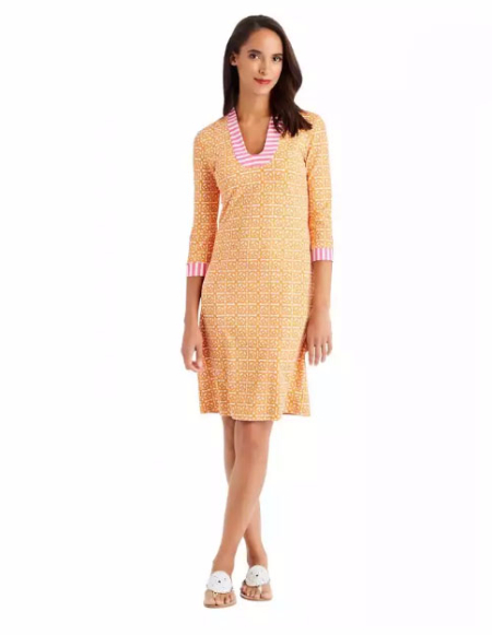 Gisel Tunic Dress in Coco Plum at J.McLaughlin
