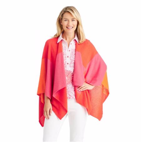 Skyler Cashmere Wrap in Color Block at J.McLaughlin