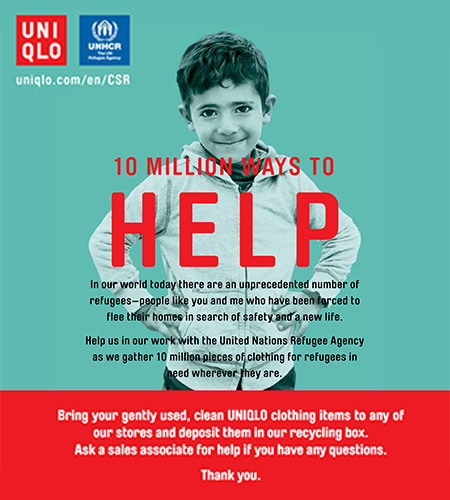 10 Million Ways to Help with UNIQLO